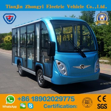 High Quality 11 Seats Electric Enclosed Sightseeing Bus with Ce CertificateImage