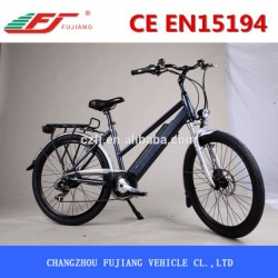 Good Performance Woman Electric Bike with Carrier&Basket&Back Seat