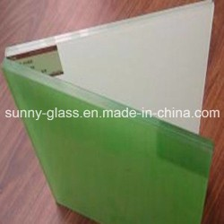 6.38mm Milk White and F Green Laminated Glass