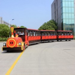 Sightseeing Electric Train for Kids Amusement Rustproofing Waterproofing and Fireproofing