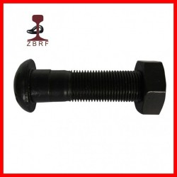 Cup Head Oval Neck Track Bolt in Black