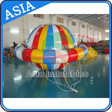 Custom Giant Durable PVC Disco Boat Towable Inflatable Saturn Inflatable Hurricane BoatImage
