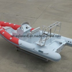 China-Aqualand-21.5 Feet 6.5m Rigid Inflatable Diving Boat/Rib Patrol/Fishing Boat (RIB650B)