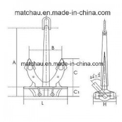 Marine Japan Stockless Anchor with Ship Anchor Weight