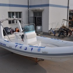 6.8m Rescue Boat Rigid Heavy Load Speed Inflatable Boat