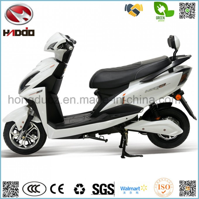 2 Wheel Electric Scooter 2 Seats Lead Battery Motorcycle Image1
