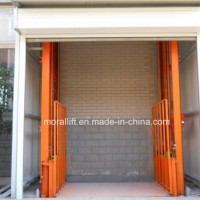 Guide Rail Hydraulic Vertical Freight Elevator with The Door