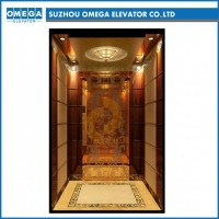 FUJI Golden Mirror 304 Stainless Steel Passenger Elevator From Factory