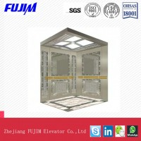 Small Machine Room Passenger Home Elevator with Beautiful Decoration