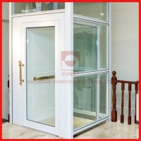 Glass Home Lift/Small Passenger Lift for 3-5 Persons