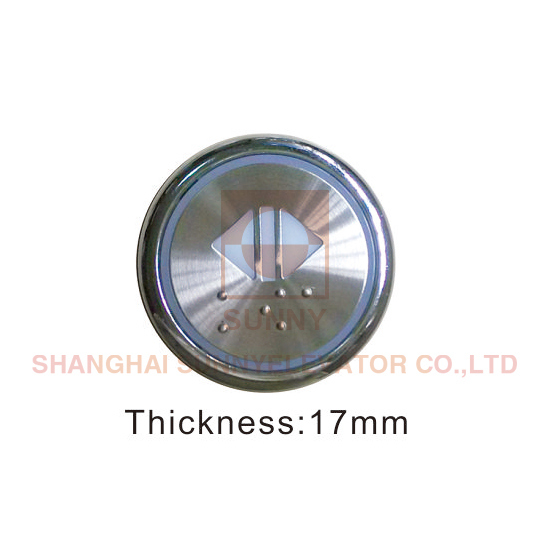 Cop Push Button for Elevator 17mm Thickness (SN-PB513) Image1