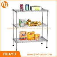 Factory Price Top High Quality 3 Tier Metal Shelving Wire Shelf Storage Rack