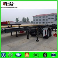 2 Axles 20FT 40ton Container Skeleton Trailer for Sale