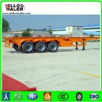 Manufacture 20FT 40FT 3 Axle Skeletal Container Chasis Semi Trailer