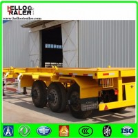 3 Axles 40FT Skeleton Semi Trailer Container Chassis Truck Trailer