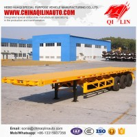 Hot Sale Tri Ejes Personalized Container Carrier Flat Bed Trailer De