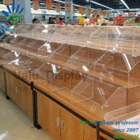 Acrylic Food Candy Cake Container Display for Supermarket