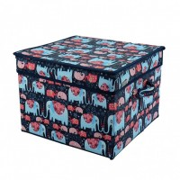 Printed Collapsible Non Woven Fabric Storage Container for Bra Underwear Socks