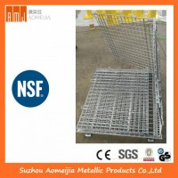 High Capacity Wire Container with Zinc/Chrome Finish