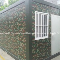 Military Apearance Modified Cool Container House