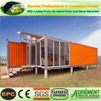 Foldable Modified Prefabricated / Prefab Flat Pack Shipping Container Beach House.