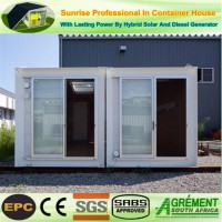 Prefab Sandwich Insulation Panel Two Bedrooms Modified Shipping Container House