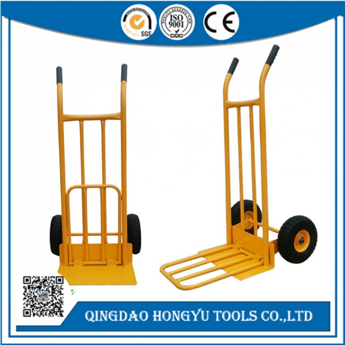 Extra Heavy Duty Folding Hand Trolley with Toe Plate Extension Image1