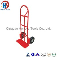 Hot Sale Metal Plate Stainless Steel Handle Hand Trolley (HT1819)