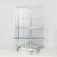 Foldable Mesh Cage Roll Container Trolley