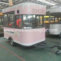 Fully Equipped Food Cart Cost with Stainless Steel Workbench (CE)