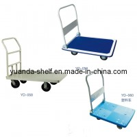 Warehouse Flat Bed Cargo Hand Trolley Cart