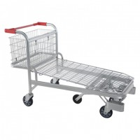 Large Capacity Wire Warehouse Flat Cart (YD-M44)