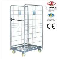 Foldable Roll Container Cage Warehouse Trolley Cart