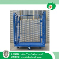 Powder Coating Metal Cage Trolley for Warehouse Storage