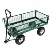 UK Durable Metal Steel Tool Garden Cart