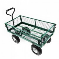 Steel Heavy Duty Mesh Tool Garden Cart