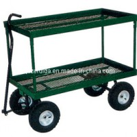 Flowerpot Turnover 2 Shelf Garden Cart (TC4204)