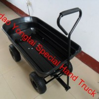 4-Wheel Garden Dump Wagon Cart