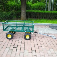 Outdoor Beach Wagon 4 Wheels Utility Folding Garden Cart