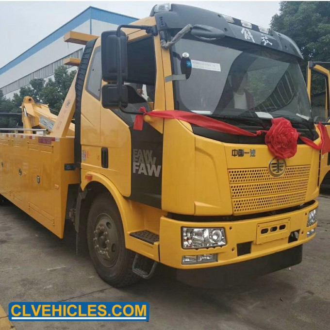 FAW Rotate 266HP 4X2 Rescue Wrecker Truck Image1