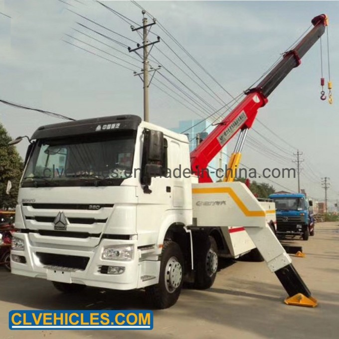 HOWO Heavy Duty Emergency Recovery Tow Truck Image1