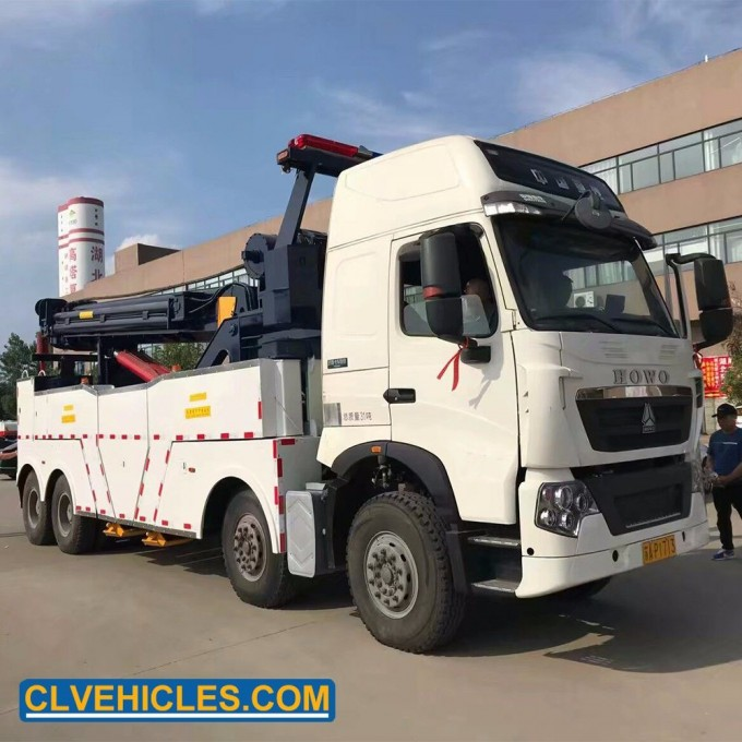 Customized HOWO 371HP 4 Axles 12 Wheelers LHD Rhd 40t with Winch Boom Image1