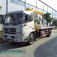 Flatbed Recovery Tow Truck with Mounted Crane