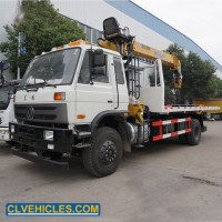5t 3arms Emergency Vehicle Flatbed Wrecker Tow Truck Mounted Crane