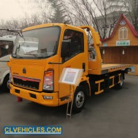 Car Towing Tow Trucks Road Marking China Flat Bed Wrecker Truck for Sale