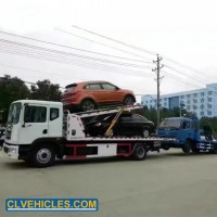 Dongfeng 4*2 190HP Road Emergency Double Flatbed Wrecker Truck