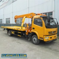 Dongfeng 4X2 Light Duty Roll Back Flatbed Crane Tow Truck