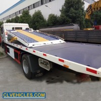 6wheels Three Car Carrier Double Flatbed Rollback Wrecker Tow Truck