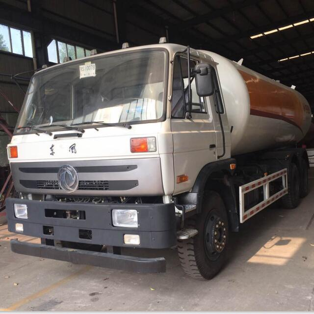 Dongfeng 6X4 12MT Fully Refrigerated LPG Road Tank Truck Image1