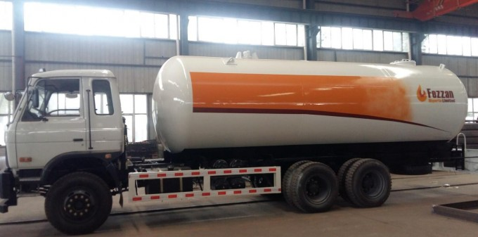 20000Liters Fully Pressurized LPG Propane Delivery Road Truck Image1